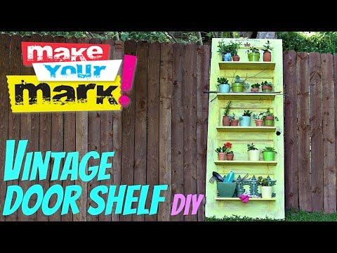 How to: Vintage Door Shelf DIY