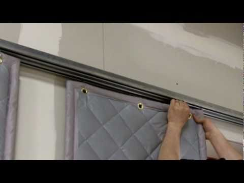 Installing a Barrier Backed Quilted Sound Curtain
