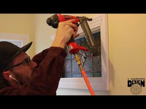 Installing an Interior Stained Glass Window Feature