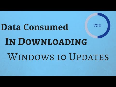 How To Check How Much Data Is Consumed In Downloading Windows 10 Updates and Store Apps