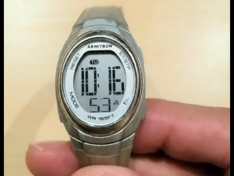 How to turn off alarm on Armitron watch