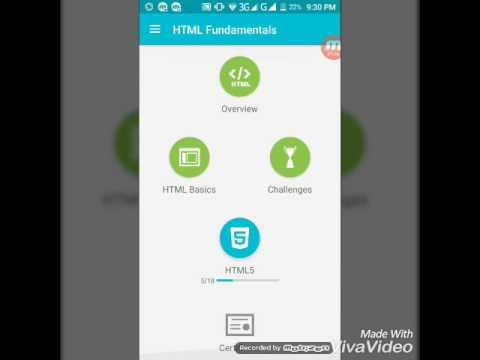 how to learn HTML ,JavaScript and programing on android phone