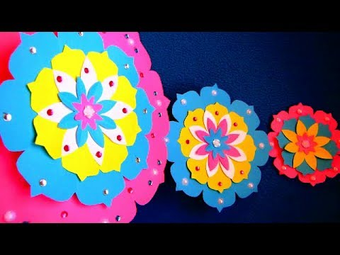 DIY  Paper Craft  Paper Design For Special Occasion  Color Paper Wall Hanging 2