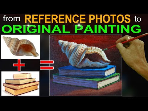How to Paint from Reference Photos and Create an Original Concept in Basic Acrylic Painting