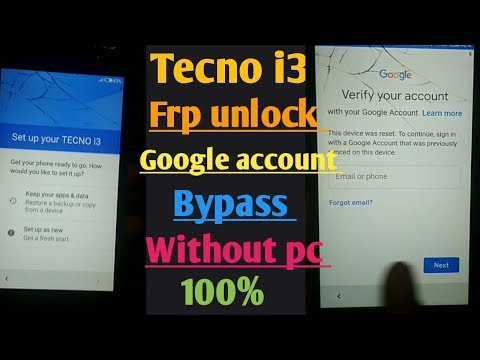 tecno i3 frp unlock /tecno i3googel account bypass solution