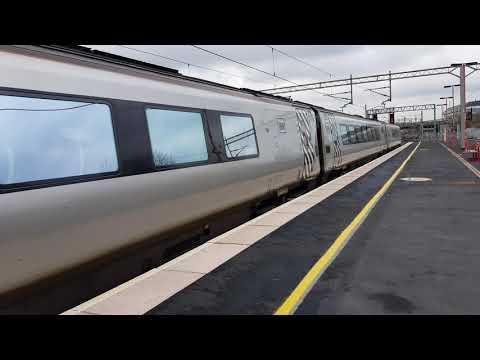 A Virgin train arrives at Birmingham International station