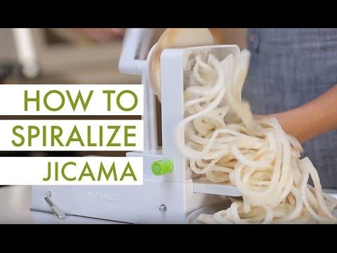 How to Spiralize Jicama