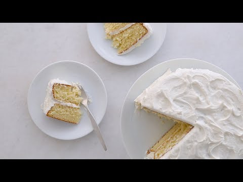 Simple Layer Cake with Vanilla Frosting- Sweet Talk with Lindsay Strand
