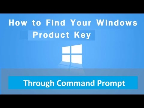 How to get your Windows Product Key through command prompt