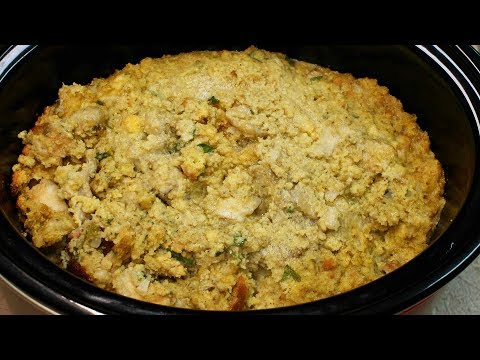 Crock-Pot Cornbread Dressing with Michael's Home Cooking