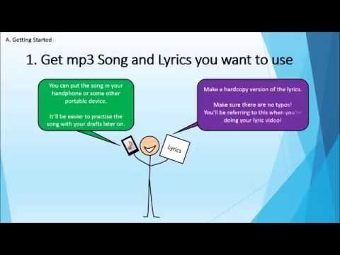 How to make a Music Lyric Video (Powerpoint Style)