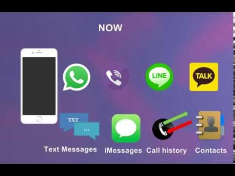 iPhone: recover Whatsapp, Viber, Line, KakaoTalk, iMessages, text messages, call history, contacts