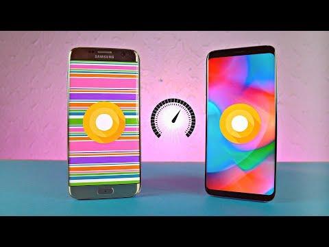Samsung Galaxy S7 Edge Android 8.0 Oreo vs Galaxy S8 Android 8.0 Oreo - Speed Test!