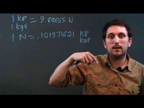 How to Convert Kiloponds to Newtons : Math Questions