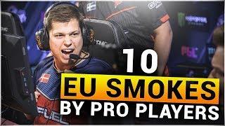 TOP 10 EU SMOKES by PRO CS:GO PLAYERS #2