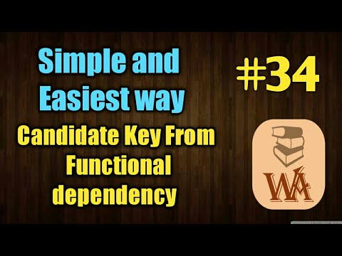 Candidate key from Functional dependency | finding candidate key | DBMS lectures in hindi | #34
