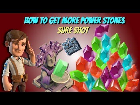 Boom Beach Power Stone Chances - 326% PSC Statues strategy - Sure shot trick - Power Stone Rain