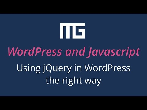 Using jQuery in WordPress the right way