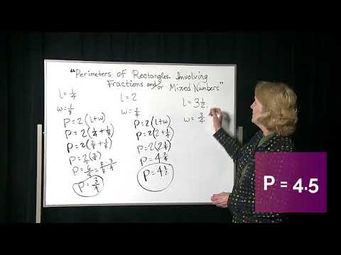 Perimeters of Rec Using Fractions and Mixed Numbers Set 1