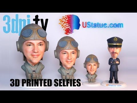 3D Printed Selfies with Just One Photo
