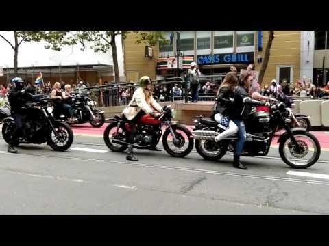 Bike pride parade in SF