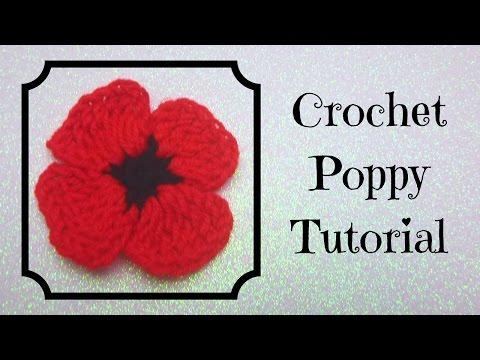 Crochet Tutorial: Crochet Poppy
