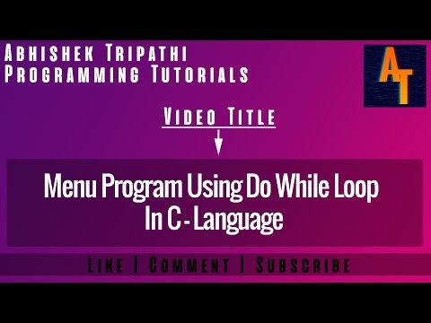 menu using do while loop part- 82