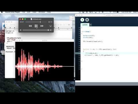 Audio Visualizer Using Processing