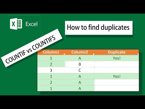 How To Find Duplicates on Multiple Columns • Microsoft Excel 2016