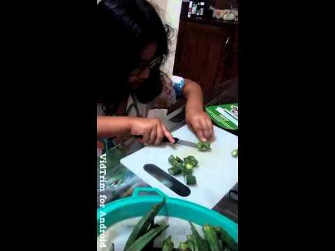 That's cutting bhindi