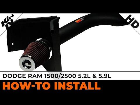 2002 Dodge Ram 2500 5.9L, 1994-2001 Ram 1500/2500 5.9L and 1500 5.2L Air Intake Installation