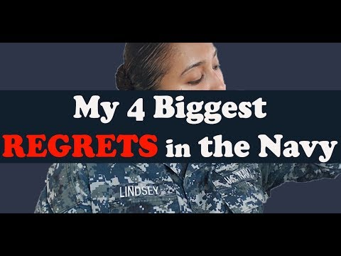4 Biggest Regrets in the Navy