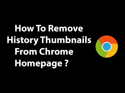 How To Remove History Thumbnails From Chrome Homepage ?