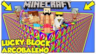 LA SFIDA DEI LUCKY BLOCK GIGANTI ARCOBALENO! - Minecraft ITA