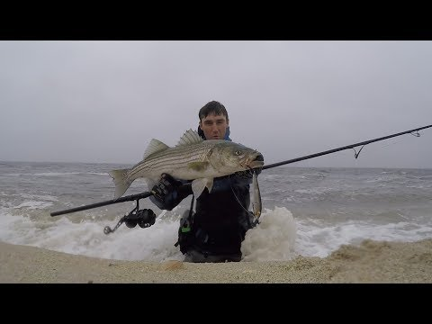 Tough Pre Storm and Post Storm Surf Fishing