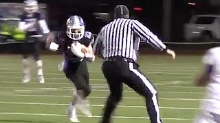 High School Referee Lays Massive Hit On Running Back
