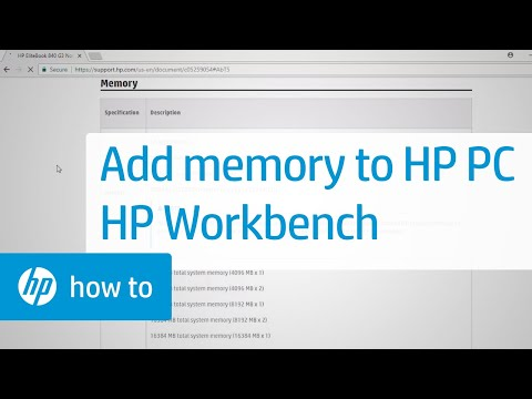 Adding Memory to your HP Computer: HP Workbench Series