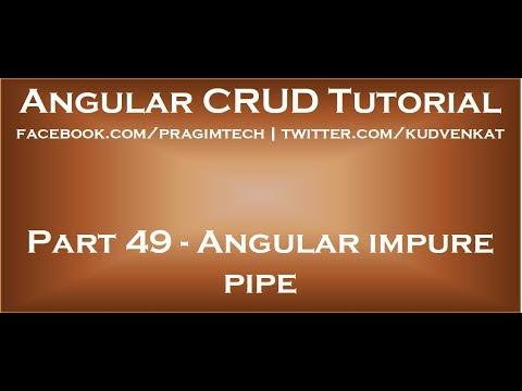 Angular impure pipe