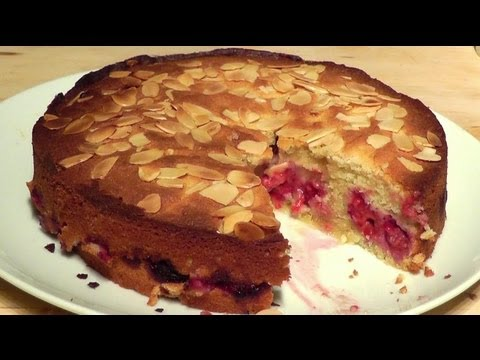 Raspberry Bakewell Tart How to Make cake recipe