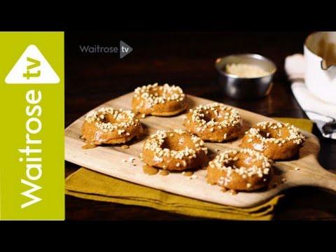 Love to Bake | Izy Hossack's Banana and Honey Baked Doughnuts with Almond Butter Glaze | Waitrose