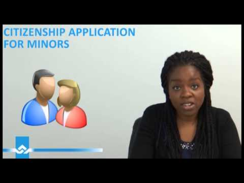 Canadian Citizenship Application for Minors