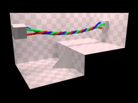 Blender Molecular script: Rope