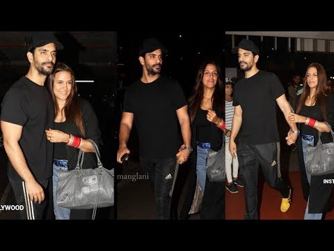 Just married Neha Dhupia returns from honeymoon with hubby Angad Bedi