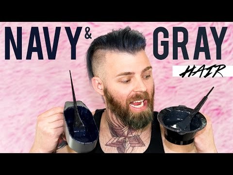 Dying My Hair Navy & Gray using Arctic Fox Hair Color !   TheRyanMorgan