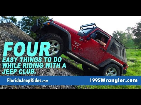 Four easy things to do while riding with a Jeep Club.