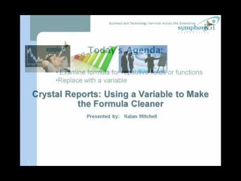 Crystal Reports Tip of the Week_ Using a Variable to Make the Formula Cleaner