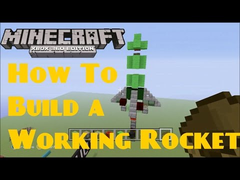 Minecraft XBOX - How to Make a Working Rocket