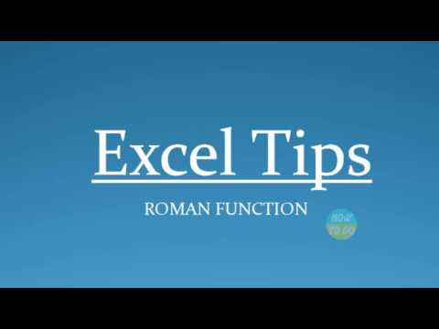 How To Use Roman Function in Excel