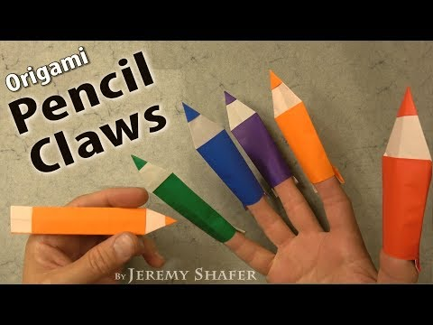 Origami Pencil Claws