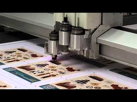 IECHO sticker cutting machine with Kiss-cut tool